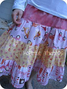 Pattern - Emma Skirt by Butterfly Kisses  Fabric - Bon Voyage by Timeless Treasures