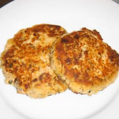 Salmon Cakes III Allrecipes.com- Canned Salmon Recipe