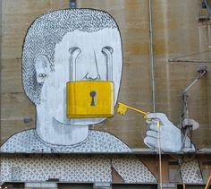 Collection of cool urban urban art, street art & graffiti art from a variety of urban artists - see more on Mr Pilgrim buy street art online site. 3d Street Art, Urban Street Art, Best Street Art, Amazing Street Art, Street Art Graffiti, Street Artists, Urban Art, Banksy Graffiti, Graffiti Artwork