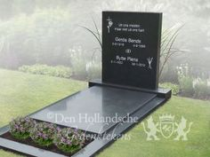 Modern gravestone with a calm appearance 12388 - 정원 아이디어 - uniek Cemetery Monuments, Cemetery Headstones, Tombstone Designs, Baby Memories, Coincidences, Sun Lounger, Modern Design, Budget, Outdoor Decor