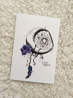 Galaxy Rose Moon Print by MorgansCanvas on Etsy