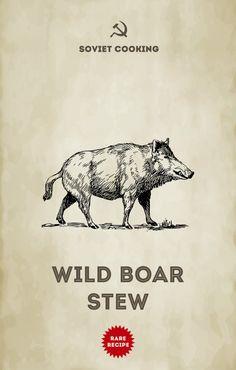 Wild boar stew  | Soviet Cooking | Almost forgotten recipes