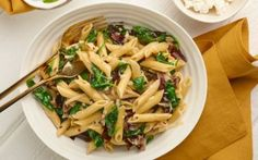 Penne with Treviso and Goat's Cheese Recipe by Giada De Laurentiis