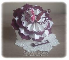 Carte chevalet fleur