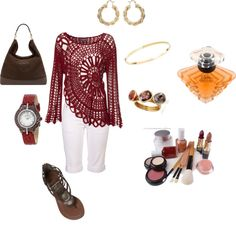 """Red Crochet"" by damussel on Polyvore"