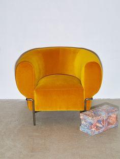 Madda Armchair in Mustard