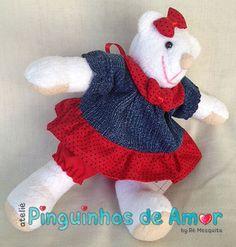 Ateliê Pinguinhos de Amor: Mini Ursa