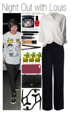 """• Night Out with Louis"" by dianasf ❤ liked on Polyvore featuring Chanel, Zimmermann, Dorothy Perkins, Helmut Lang, MAC Cosmetics, Lauren B. Beauty, Christian Dior, Bite, Zelens and Henson"