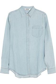 Acne|Wave denim shirt|NET-A-PORTER.COM