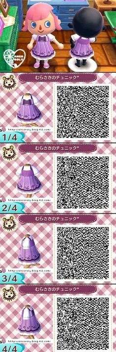 Animal Crossing New Leaf QR codes cute dress