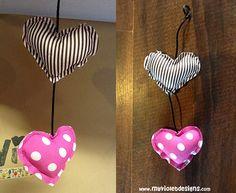 Guirnalda chica de corazones. myvioletdesigns.com