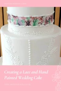 Bespoke Wedding Cakes - Creating a Lace and Hand Painted Wedding Cake - The Cake Pavilion Head over to my blog post for Wedding Cake inspiration Painted Wedding Cake, Cake Blog, Wedding Cake Inspiration, Pavilion, Bespoke, Lace Wedding, Wedding Cakes, Hand Painted, Create