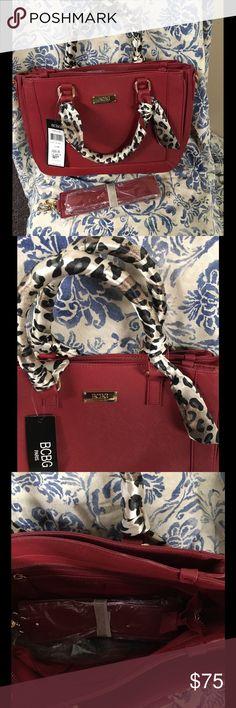 Spotted while shopping on Poshmark: BCBG DArk Rec Handbag with Scarf Wrapped Handles! #poshmark #fashion #shopping #style #BCBG #Handbags
