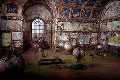 Abandoned globes by