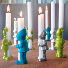 elf candleholders @ cb2 $6.95 each= i think i loves these! Is that weird?