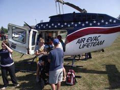 Air Evac LifeTeam was a big hit with the kids at the 2012 Recreation Unlimited event this year!