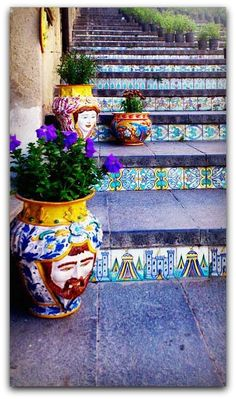 Italy Travel Inspiration - Caltagirone, Sicily - The most beautiful steps and stairs around the world, Siena Toscana, Beautiful World, Beautiful Places, Beautiful Stairs, Sicily Italy, Verona Italy, Puglia Italy, Venice Italy, Italy Travel