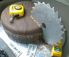 Saw blade cake for Dad Happy Fathers Day #provestra