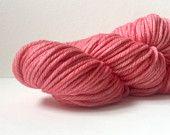 Hand Dyed Superwash Merino Bulky Yarn-Flamingo