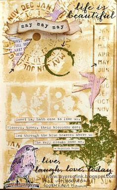 Sweet Month of May Art Journaling