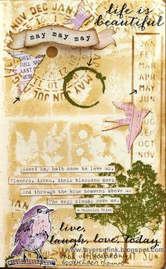 Sweet Month of May Art Journaling