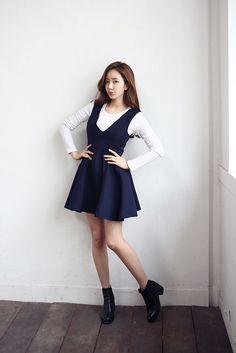 V-Shape Sleeveless Dress