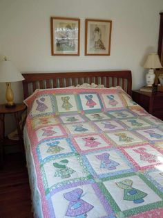 sunbonnet sue quilts | sunbonnet sue ... My grandmother made these for my girls when they were young.