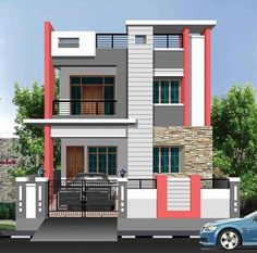 House outside design exterior wall design for house house outside design 5 charming inspiration home for . house outside design Bungalow Haus Design, Duplex House Design, Small House Design, Modern House Design, House Paint Exterior, Exterior House Colors, Exterior Design, Bungalow Exterior, Independent House