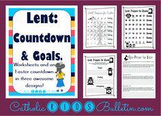 Lent Traditions, Goal Setting and Countdown, Teacher Pay Teachers, Catholic Kids Bulletin