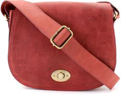 A beautiful Etsy Red Leather Saddle Bag/ Leather Cross Body Bag/ Leather Satchel/ Leather Messenger Bag #ad