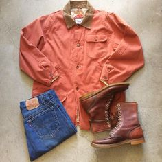 """Renegade Barn Jacket $36+$16(shipping) domestic. Size Medium (34""""x24""""). 50's Herman Lace Up Boots size 10. $165+$24(shipping) & Levi's 501 Jeans W:33. $45+$16(shipping) domestic. Contact the shop at 415-796-2398 to purchase by phone or PayPal afterlifeboutique@gmail.com and reference item in post."""