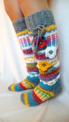 Hand knitted socks are great and in cold weather, wonderful gift for You and for loved ones! The socks are hand knitted from special sock yarn witch is made in Finland (70% wool + 30% polyester). This item is made to order (processing time 1-2 weeks)+delivery. SPECIFICATION *