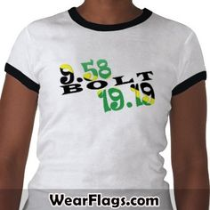 Usain Bolt Berlin 2 WR Jamaican Flag Tshirt, $23.50