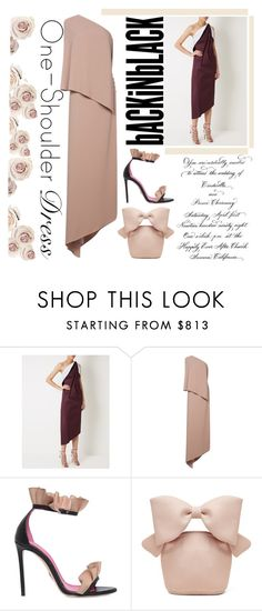 """One shoulder dress, so delicate look"" by cool-cute ❤ liked on Polyvore featuring Maticevski, Agnona, Oscar Tiye and Simone Rocha"