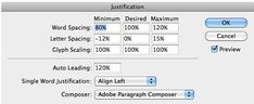 InDesign Text Justification