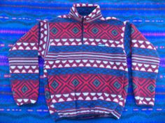 Vintage Patagonia Retro Colorful Synchilla Fleece Snap T Pullover ...