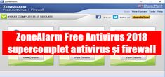 ZoneAlarm Free Antivirus 2018 supercomplet antivirus și firewall