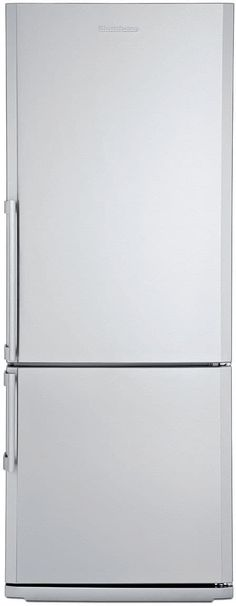 Blomberg BRFB1452SSN 13.8 cu. ft. Counter-Depth Bottom-Freezer Refrigerator with 3 Glass Shelves, 2 Produce Drawers, Antibacterial Interior, Reversible Door and Energy Star Certified
