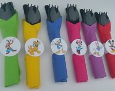 Vasos fiestas Mickey Mouse 18 con tapas y paja por HelloFaith