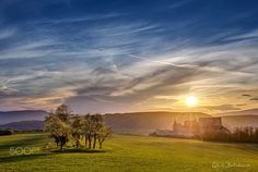 """Sunset over Beckov castle - One of nice sunset behind the castle Beckov in Slovakia with blooming tress...  Follow me on <a href=""""https://www.facebook.com/lubosbalazovic.sk"""">FACEBOOK</a> or <a href=""""https://www.instagram.com/balazovic.lubos"""">INSTAGRAM</a>"""