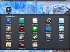 Matt always has amazing posts - check out these screen shots of all the apps he uses for storytelling apps in the classroom.