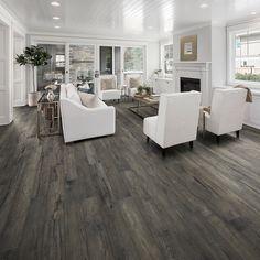 grey wood floors One Living Room, Seven Ways Wood Flooring Sale, Acacia Hardwood Flooring, Bamboo Laminate Flooring, Grey Hardwood Floors, Engineered Wood Floors, Wood Laminate, Vinyl Flooring, Flooring Options, Flooring Ideas