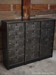 meuble 15 casiers industriel strafor