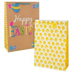 Large handcrafted easter gift bag easter gifts cards easter easter gift bag extra large 2 pack negle Choice Image