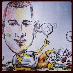 """@karlrosengard's photo: """"Bolljonglör. Inte jag som ritat, men föreställer mig. #clubpaf #lytro #competition #drawing"""""""