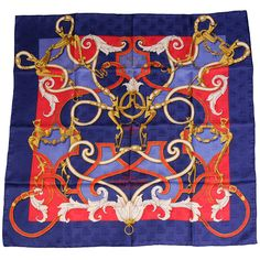 "Hermes Scarf L""Instruction du Roy...  Never Worn 