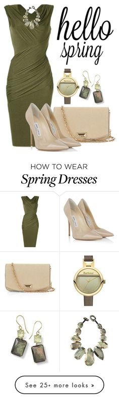 """SPRING FLING"" by arjanadesign on Polyvore featuring MaxMara, Jimmy Choo, Barbour, Viktoria Hayman and Ippolita"
