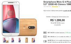 """Moto G 4 Plus Dual Chip Android 6.0 Tela 55"""" 32GB 4G Câmera 16MP << R$ 98724 >>"""