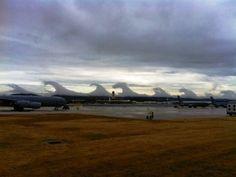 Tsunami clouds (Kelvin–Helmholtz instability). Amazing natural phenomenon - Paradise of birds