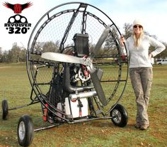 BlackHawk Revolver 320 Paramotor Powered Paraglider With Heidi Lee